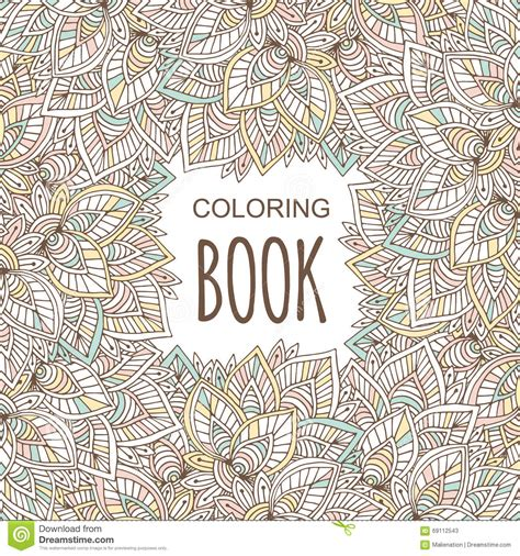 coloring book album meaning coloring book cover in unique zentangle style vector