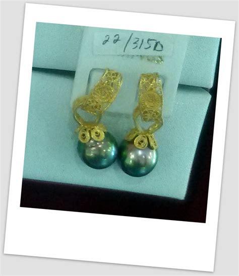 Black Lace Earrings Anting Aksesoris Anting Handmade handmade gold earring with south sea pearl etr 024 harga mutiara lombok perhiasan toko emas