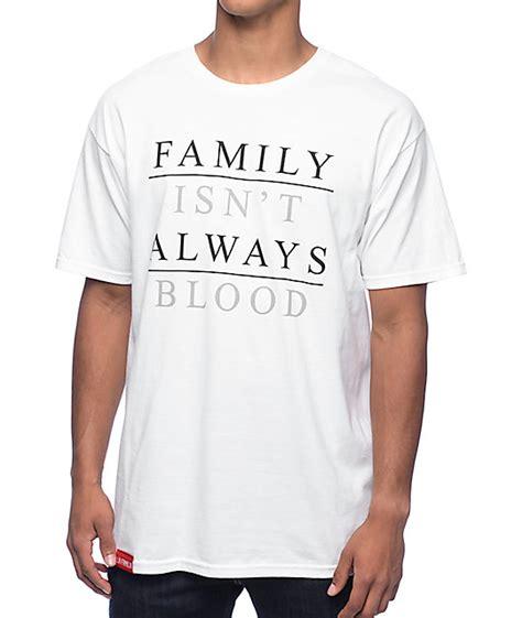 Blood A White Shirt by La Familia Family Blood White T Shirt