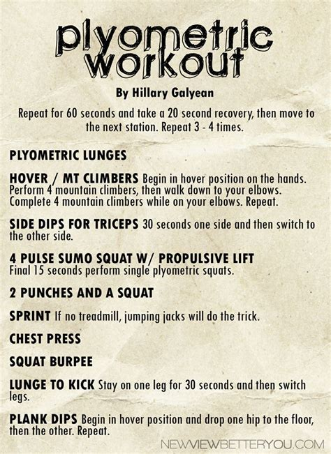 plyometric workout plyometrics