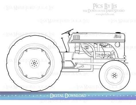ford tractor coloring page 257 best ford 8n tractor images on pinterest old