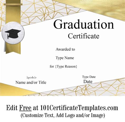 graduation certificate template customize