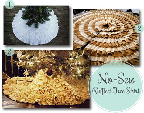 what is a tree skirt called diy no sew ruffled tree skirt road called