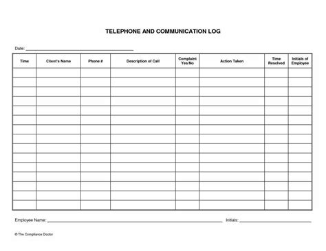 Sales Call Log Template Excel by Template Log Templatereference Letters Words Reference