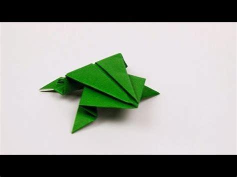 tutorial origami katak lompat diy cara membuat kodok lompat dari origami youtube