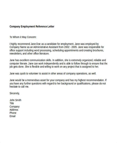 Reference Letter For Work Done Sle Reference Letter For Well Done Cover Letter Templates