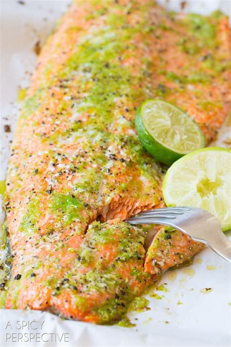 salmon in oven garlic lime oven baked salmon a spicy perspective
