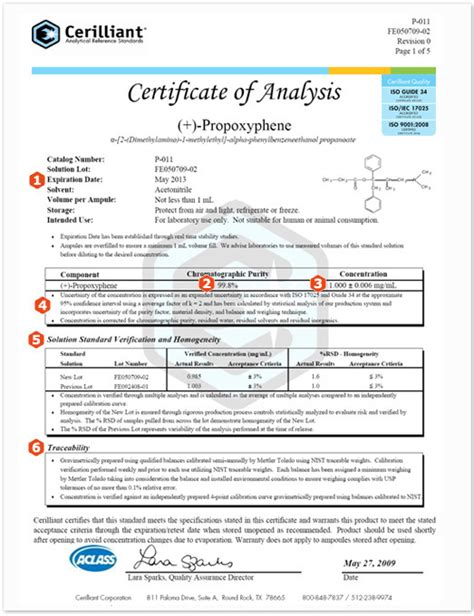 certificate of analysis template certificate of analysis exles sigma aldrich