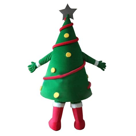 green christmas tree mascot costume free shipping