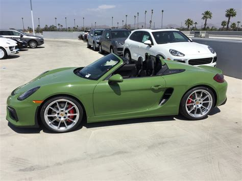 green porsche boxster new pts olive green arrived rennlist discussion forums