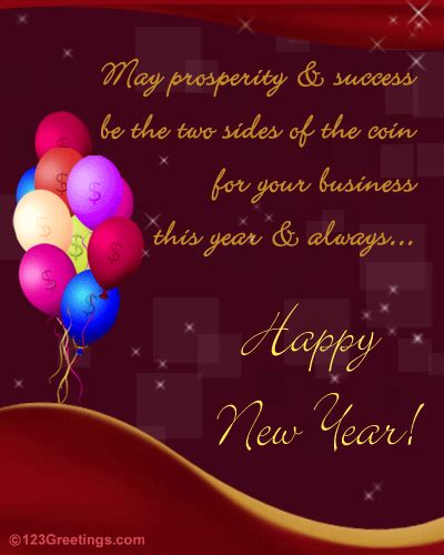 year business greeting  business  ecards