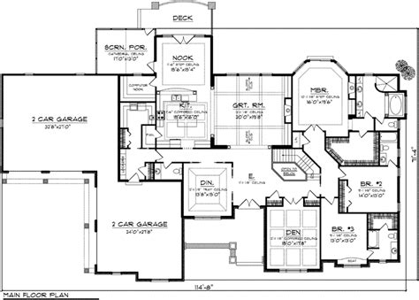 executive ranch floor plans stillman luxury ranch home plan 051d 0772 house plans