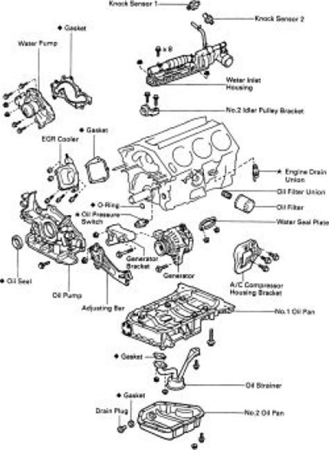 old car manuals online 1998 toyota avalon transmission control 1998 toyota camry engine diagram automotive parts diagram images