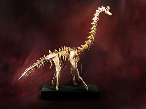 origami brachiosaurus mind blowing origami dinosaur skeletons origami me