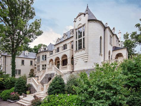 chateau homes chateau clad in limestone mediterranean exterior charleston by desantana