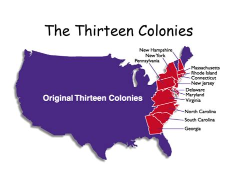 13 colonies sections the thirteen colonies ppt video online download