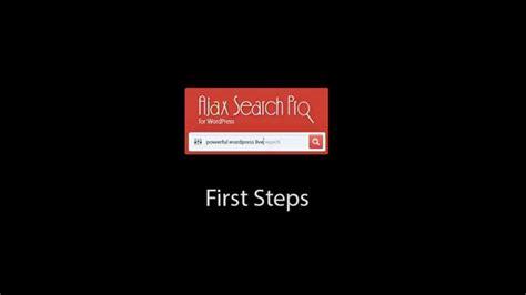 tutorial ajax wordpress ajax search pro for wordpress first steps tutorial youtube