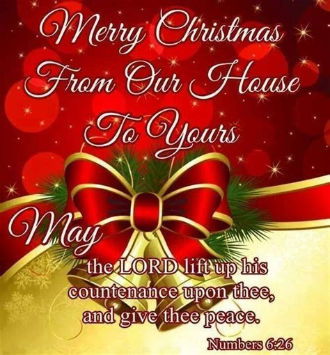 merry christmas   house     lord lift   countenance  thee