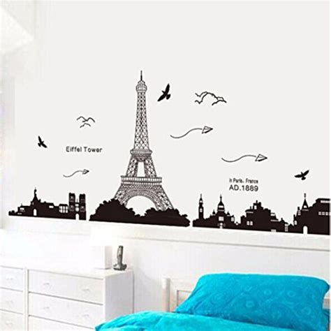 eiffel tower wallpaper for bedroom ussore eiffel tower removable decor environmentally mural