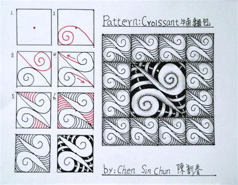 how to start a zendoodle zentangle step by step