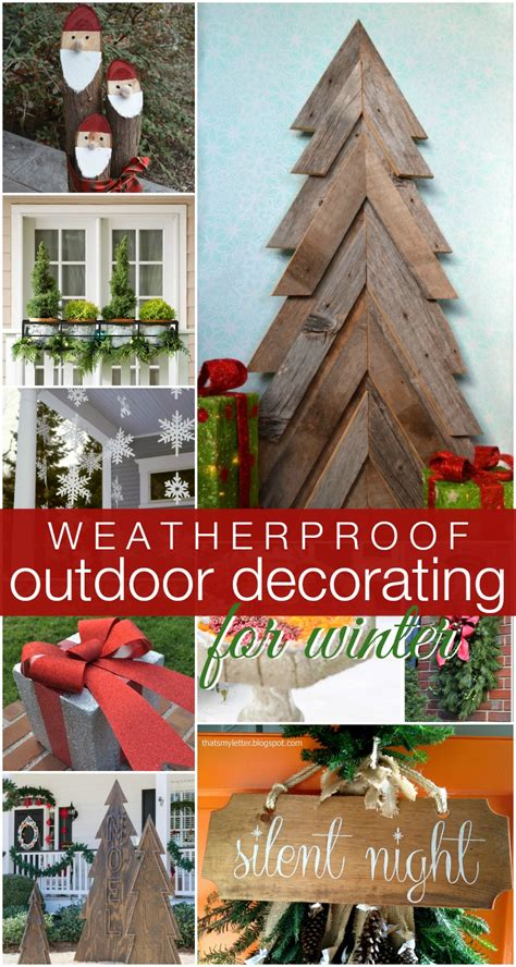 diy exterior decorations remodelaholic diy outdoor decor for winter