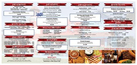 bubbas seafood house bubba s seafood house menu picture of bubba s seafood house orange beach tripadvisor