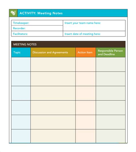 meeting minutes template excel 7 free meeting minutes templates excel pdf formats