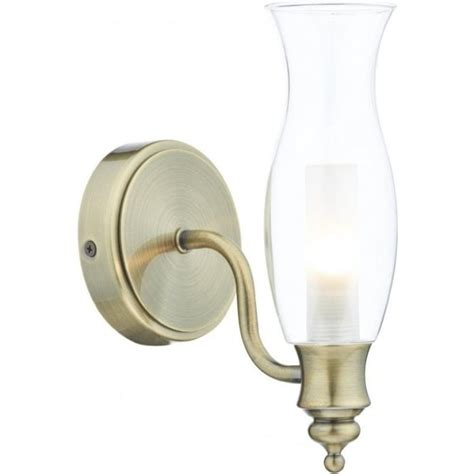Single Bathroom Light Fixtures Dar Lighting Vestry Single Light Antique Brass Bathroom Wall Fixture Dar Lighting From