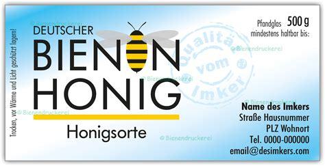 Etiketten Honig by Bienendruckerei Honigglas Etikett Motiv 071