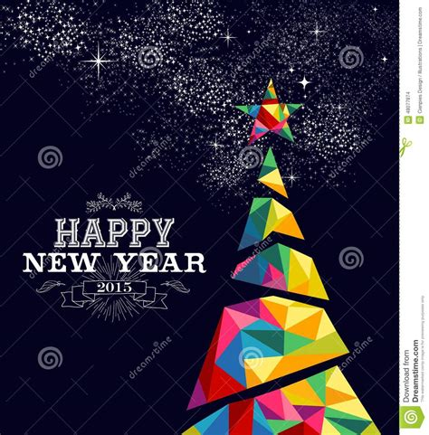new year 2015 poster design new year 2015 tree poster design stock vector image