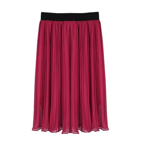 Pleated A Line Chiffon Skirt vintage accordion pleated skirt chiffon a line