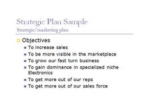 sales business plan template powerpoint sle sales plan 9 exle format