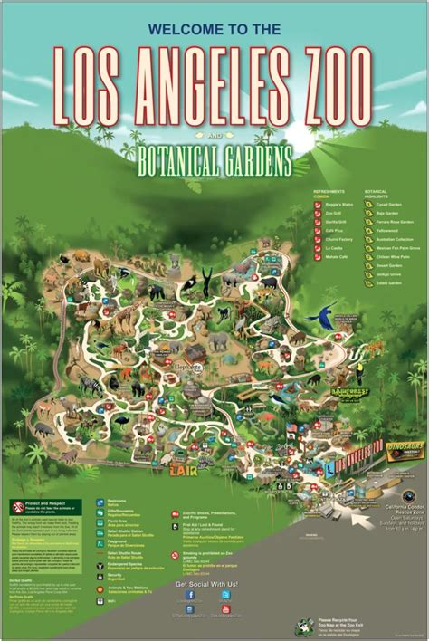 La Zoo And Botanical Gardens 17 Best Ideas About Botanic Garden Map On Maps Children Garden And Trees To Plant