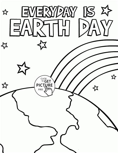 everyday is earth day coloring page for kids coloring