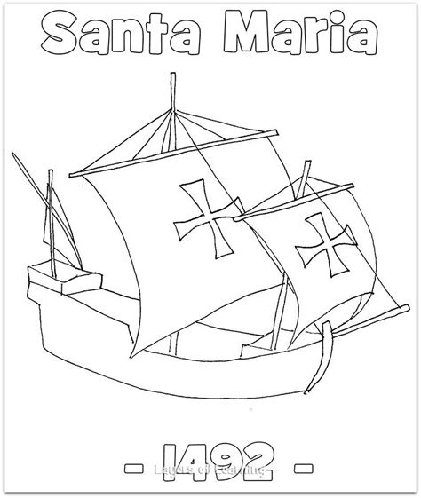 the santa maria coloring sheet this was christopher