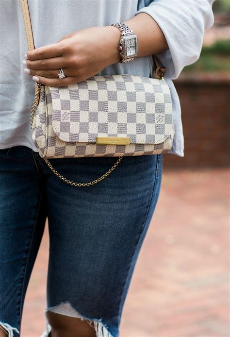 Lv Crossbody louis vuitton damier azur favorite pm louis vuitton