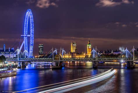 Tlcharger Fond d'ecran Angleterre, Thames, Ville, nuit