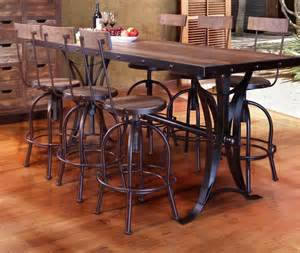 How To Build A Counter Height Dining Table Antique Multicolor Counter Height Dining Table With Iron Base