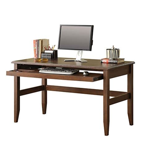 Office Depot Writing Desk Whalen Dunmoor Collection Writing Desk 30 H X 55 W X 23 58 D Brown Cherry By Office Depot