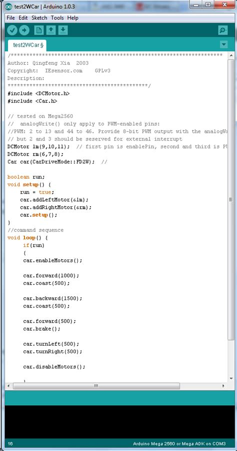arduino code to control motor arduino motor control code impremedia net