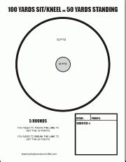 free printable tactical targets rimfire tactical precision match within accurateshooter com