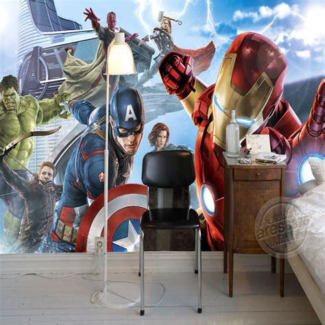 boys bedroom photo wallpaper custom 3d wall