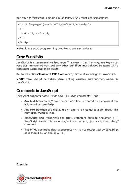 tutorialspoint for javascript javascript tutorial tutorialspoint