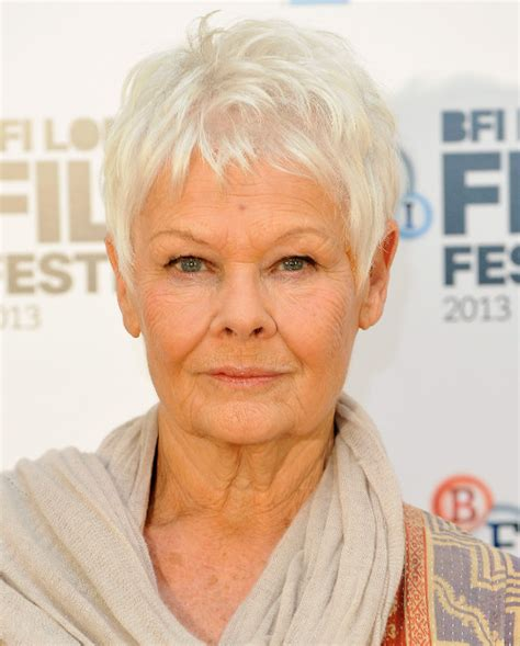 judith dench haircut pictures celebrities with gray hair judy dench gray