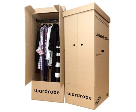 pair of wardrobe boxes locker
