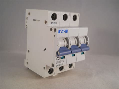 Mcb 3 Pole 20 Ere Bcb63c20 Mcb eaton mcb 20 type c 20a pole 3 phase c20 memshield 3 emch320 willrose electrical