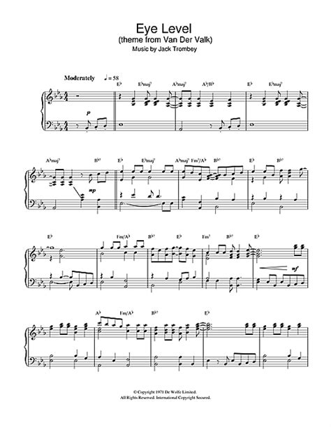 theme music van der valk eye level theme from van der valk sheet music by jack