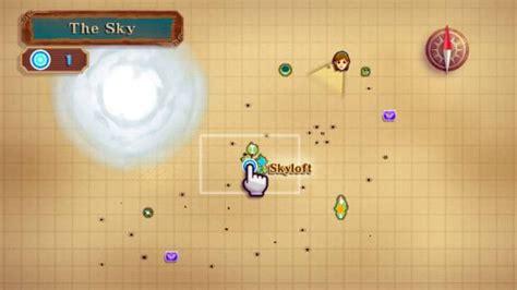 legend of zelda skyloft map exclusive video treasure hunting in skyward sword the
