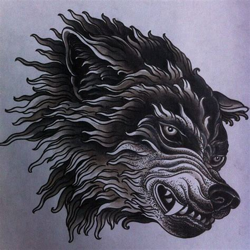 tattoo new school wolf wolf illustration tattoo flash art illustration