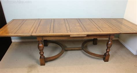 Farmhouse Dining Table With Leaf Antique Farmhouse Oak Draw Leaf Dining Table Antiques Atlas